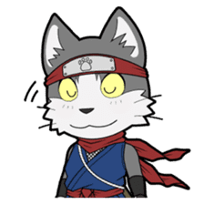 Ninja Cat HACHIWARE! sticker #5883285