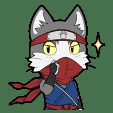 Ninja Cat HACHIWARE! sticker #5883286