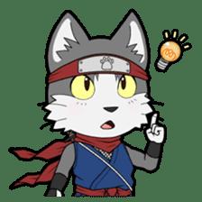 Ninja Cat HACHIWARE! sticker #5883287