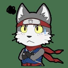 Ninja Cat HACHIWARE! sticker #5883288