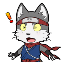 Ninja Cat HACHIWARE! sticker #5883290