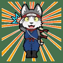 Ninja Cat HACHIWARE! sticker #5883292