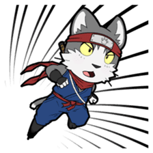 Ninja Cat HACHIWARE! sticker #5883293