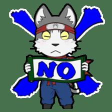 Ninja Cat HACHIWARE! sticker #5883295