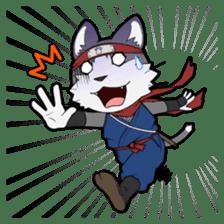 Ninja Cat HACHIWARE! sticker #5883296