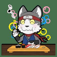 Ninja Cat HACHIWARE! sticker #5883300
