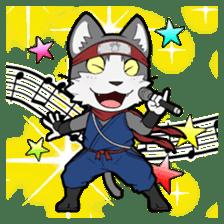 Ninja Cat HACHIWARE! sticker #5883304