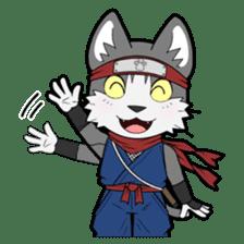 Ninja Cat HACHIWARE! sticker #5883305