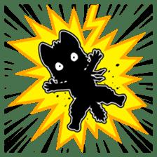 Ninja Cat HACHIWARE! sticker #5883308