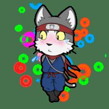 Ninja Cat HACHIWARE! sticker #5883310