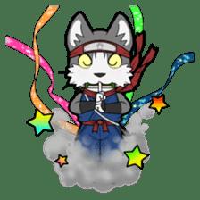 Ninja Cat HACHIWARE! sticker #5883311