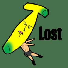 Banana wrestler sticker #5885521