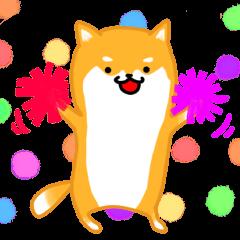 Sticker of a Shiba dog
