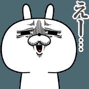 สติ๊กเกอร์ไลน์ Rabbit expression is too rich(Anime14)