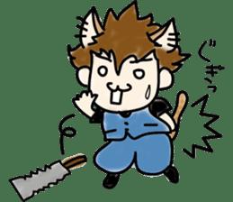 Cat craftsman2 sticker #5898765