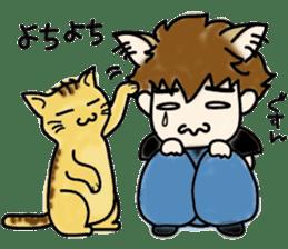 Cat craftsman2 sticker #5898784
