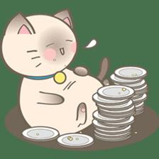 Simi, The siamese kitten (version 2) sticker #5905081