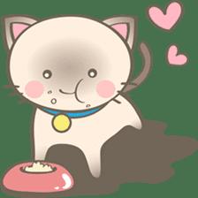 Simi, The siamese kitten (version 2) sticker #5905108