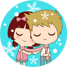 The sweet newlywed couple version 2 sticker #5905980