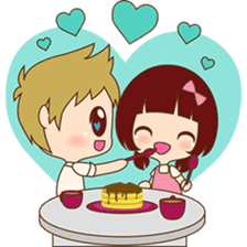 The sweet newlywed couple version 2 sticker #5905985