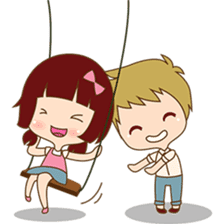 The sweet newlywed couple version 2 sticker #5905987