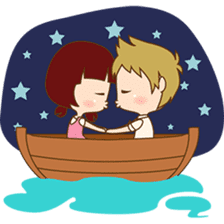 The sweet newlywed couple version 2 sticker #5905989