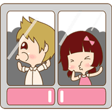The sweet newlywed couple version 2 sticker #5905995