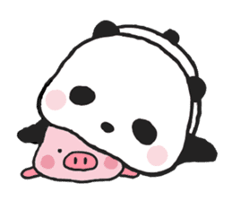Sweet Panda & Honey Pig sticker #5909320