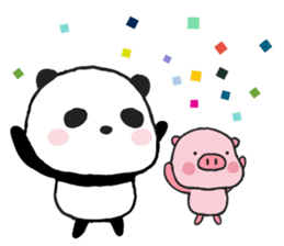 Sweet Panda & Honey Pig sticker #5909325
