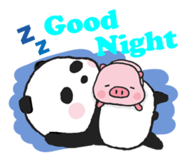 Sweet Panda & Honey Pig sticker #5909328