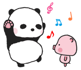 Sweet Panda & Honey Pig sticker #5909329
