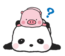 Sweet Panda & Honey Pig sticker #5909333