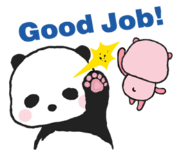 Sweet Panda & Honey Pig sticker #5909337