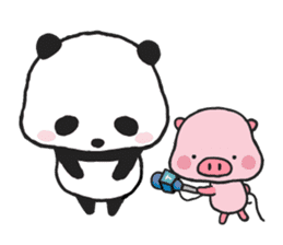 Sweet Panda & Honey Pig sticker #5909340