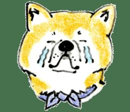 Life of the Japanese Akita sticker #5912764