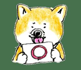 Life of the Japanese Akita sticker #5912778