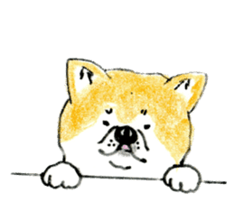 Life of the Japanese Akita sticker #5912781