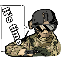 Airsoft gamer's Sticker(English ver.)