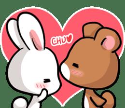 Always together Rabbit & Bear's love2 sticker #5922320