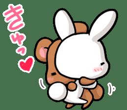 Always together Rabbit & Bear's love2 sticker #5922321