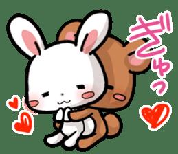 Always together Rabbit & Bear's love2 sticker #5922322