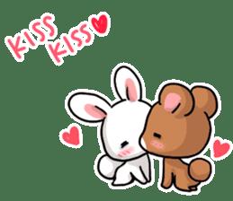 Always together Rabbit & Bear's love2 sticker #5922324