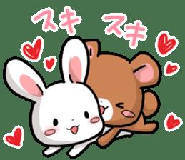 Always together Rabbit & Bear's love2 sticker #5922325