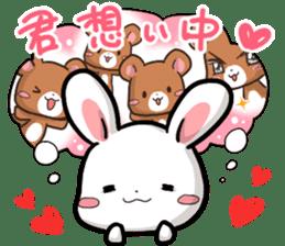 Always together Rabbit & Bear's love2 sticker #5922330