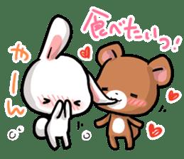 Always together Rabbit & Bear's love2 sticker #5922332