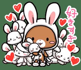 Always together Rabbit & Bear's love2 sticker #5922333