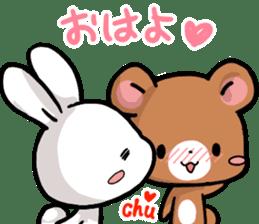 Always together Rabbit & Bear's love2 sticker #5922334