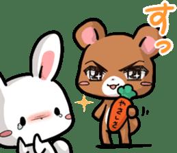 Always together Rabbit & Bear's love2 sticker #5922344