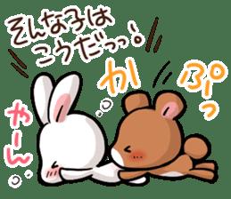 Always together Rabbit & Bear's love2 sticker #5922353