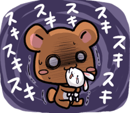 Always together Rabbit & Bear's love2 sticker #5922358